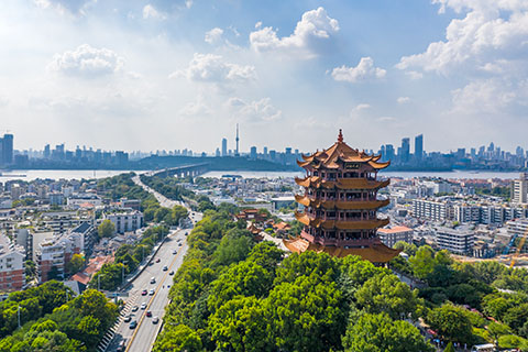 Cityscape of Wuhan in China