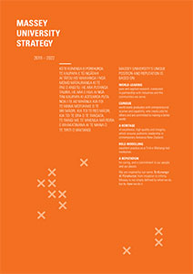 Massey Univerity Strategy 2018 to 2022