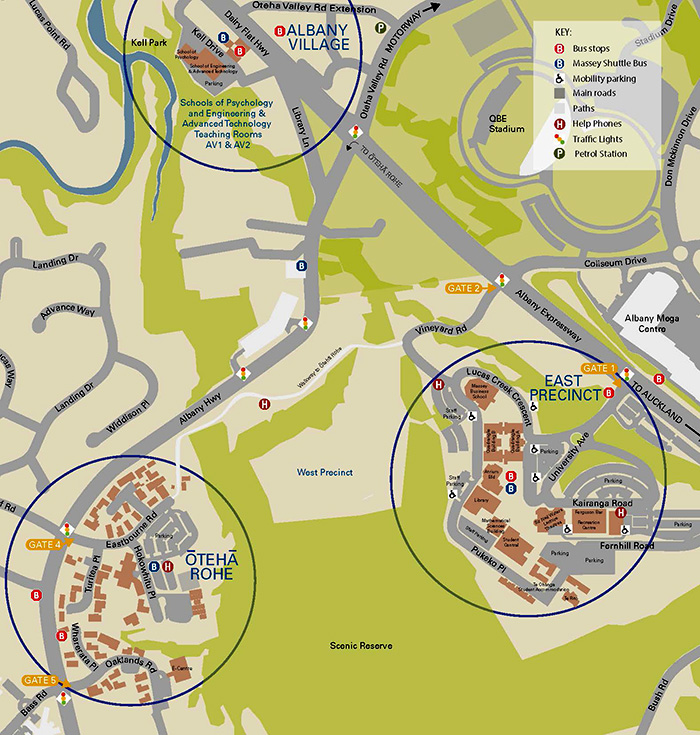 Auckland campus aerial map