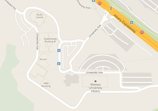 Google map of Massey University Albany campus