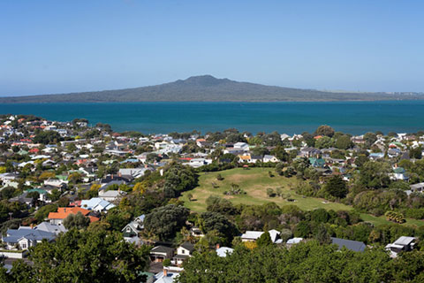 Auckland with Rangitoto in background
