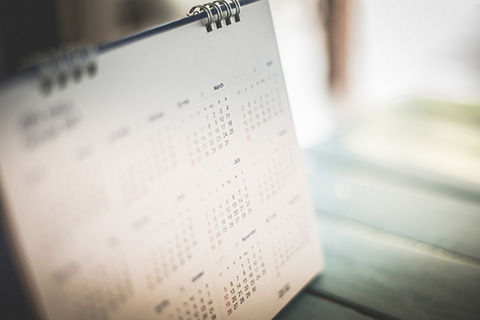 Blurred out calendar image