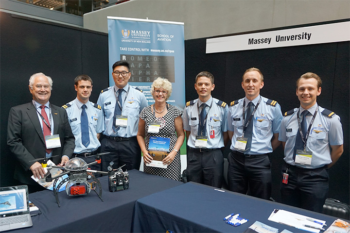 UAVNZ RPAS team at booth