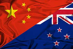 China and New Zealand flags