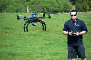 Hexacopter in operation
