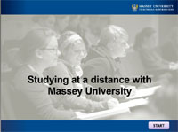 Studying at a distance with Massey University presentation