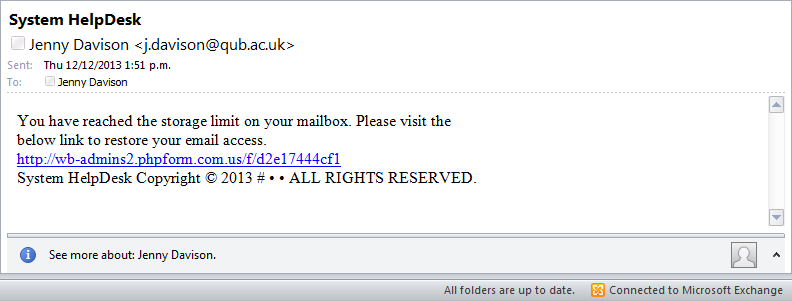 spam and other unsolicited emails massey