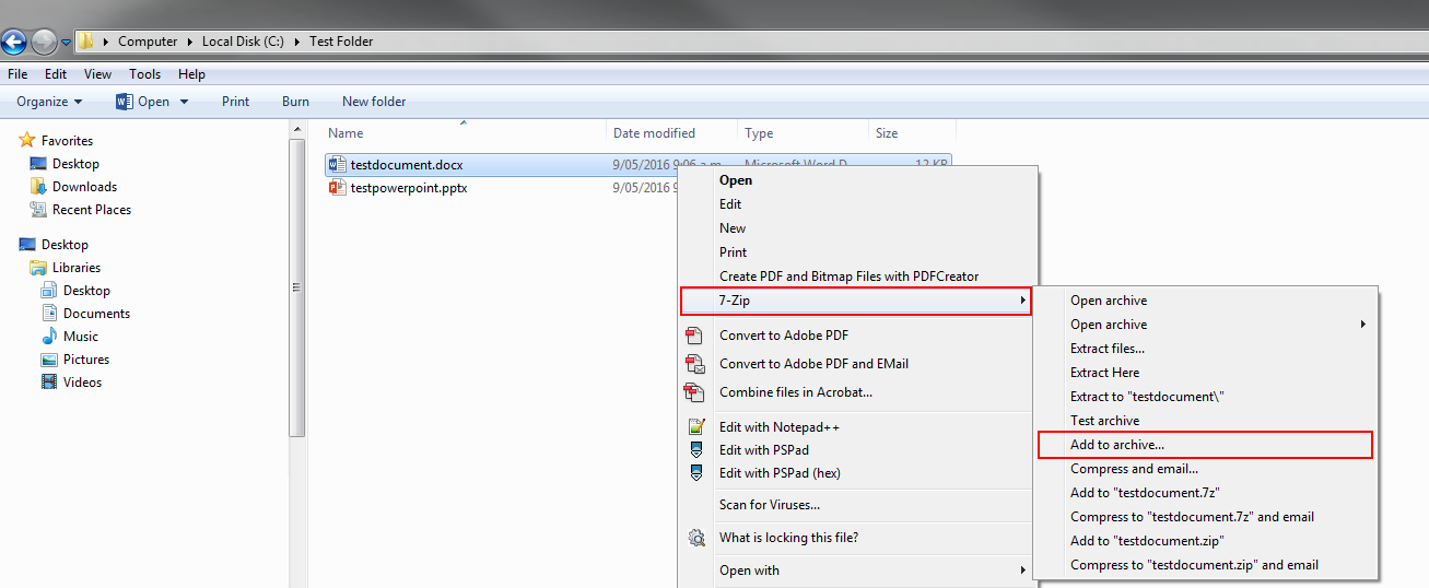 how to change an all file to a zip file