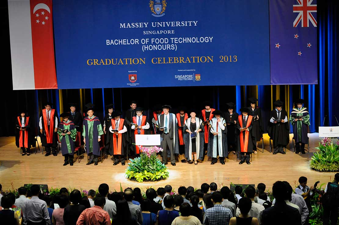 Special Day For Singapore Food Tech Grads Massey University