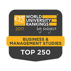 QS ranked in the top 250 for Business and Management