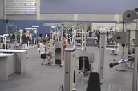Gym equipment in recreation centre at Auckland campus