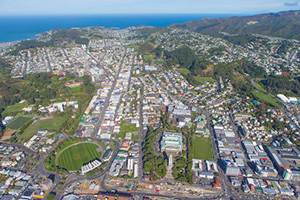 Aerial photo of Wellington campus