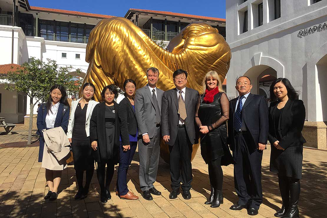 China's number one university visits Massey