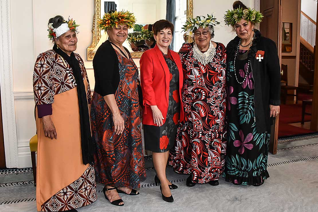 Governor General Dame Patsy Reddy and the Pacifica Mamas