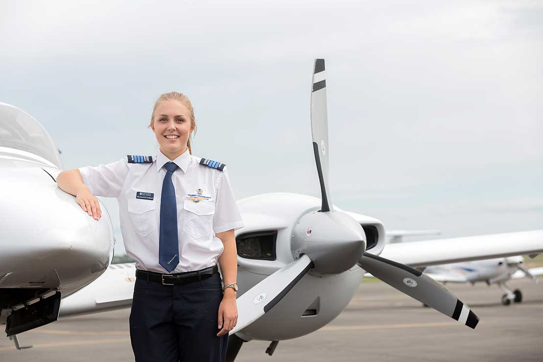 Aviation student soars to top of her class