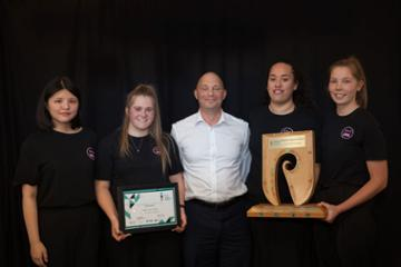 Taranaki young enterprise award presented to 'Girls of Steel'